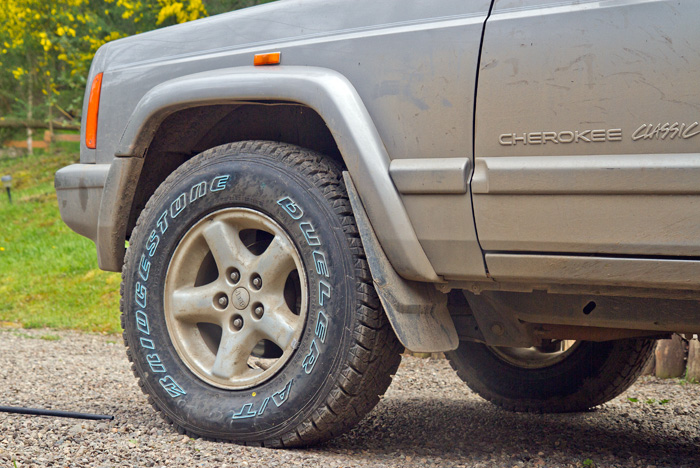 With much of the journey on dirt and gravel roads new tyres were essential (if expensive)