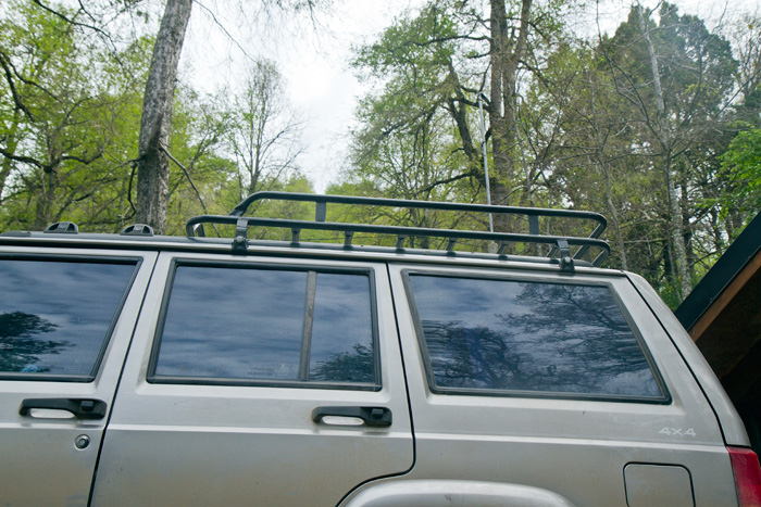 Roof racks were expensive, so we had this one made to size