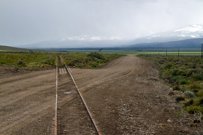 Part of the old line of the Old Patagona Express that once ran from Ingeniero Jacobacci to Esquel.