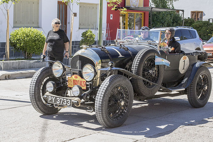 The oldest car in the rally, a 1925 Bentley Super Sports